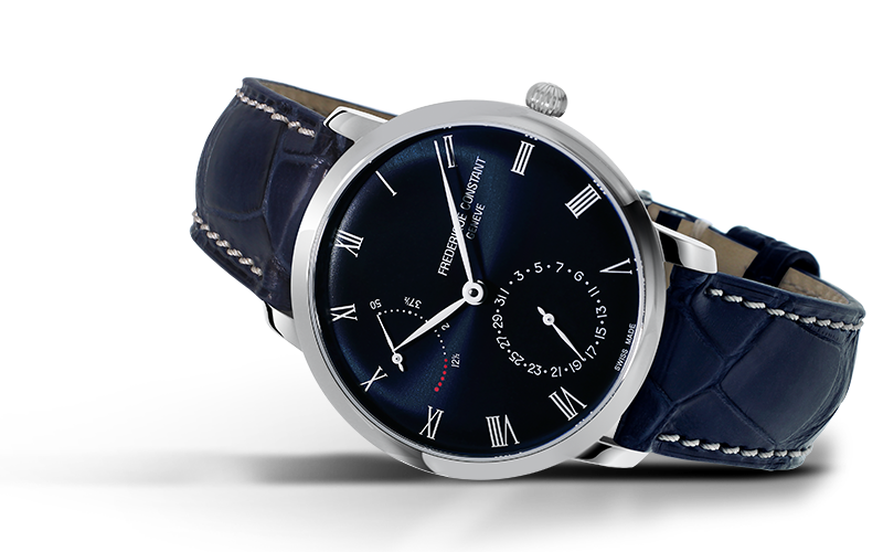 Frederique Constant Slimline Power Reserve Manufacture Automatic (Blue Dial / 40mm)