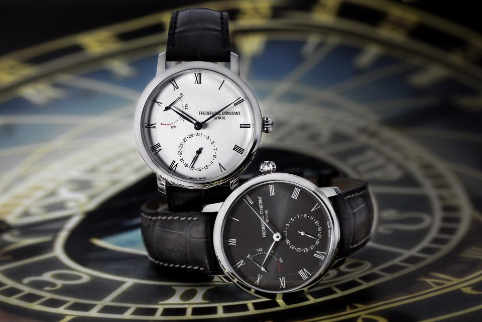 Frederique Constant Slimline Power Reserve Manufacture Automatic (Grey Dial / 40mm)