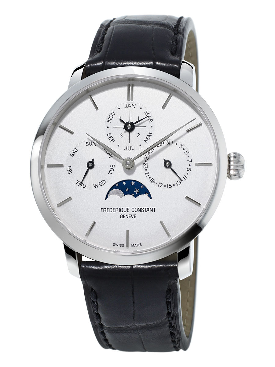 Frederique Constant Slimline Perpetual Calendar Manufacture Automatic (Silver Dial / 42mm)