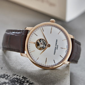 Frederique Constant Slimline Heart Beat Automatic (Silver Dial / 40mm / RGP)