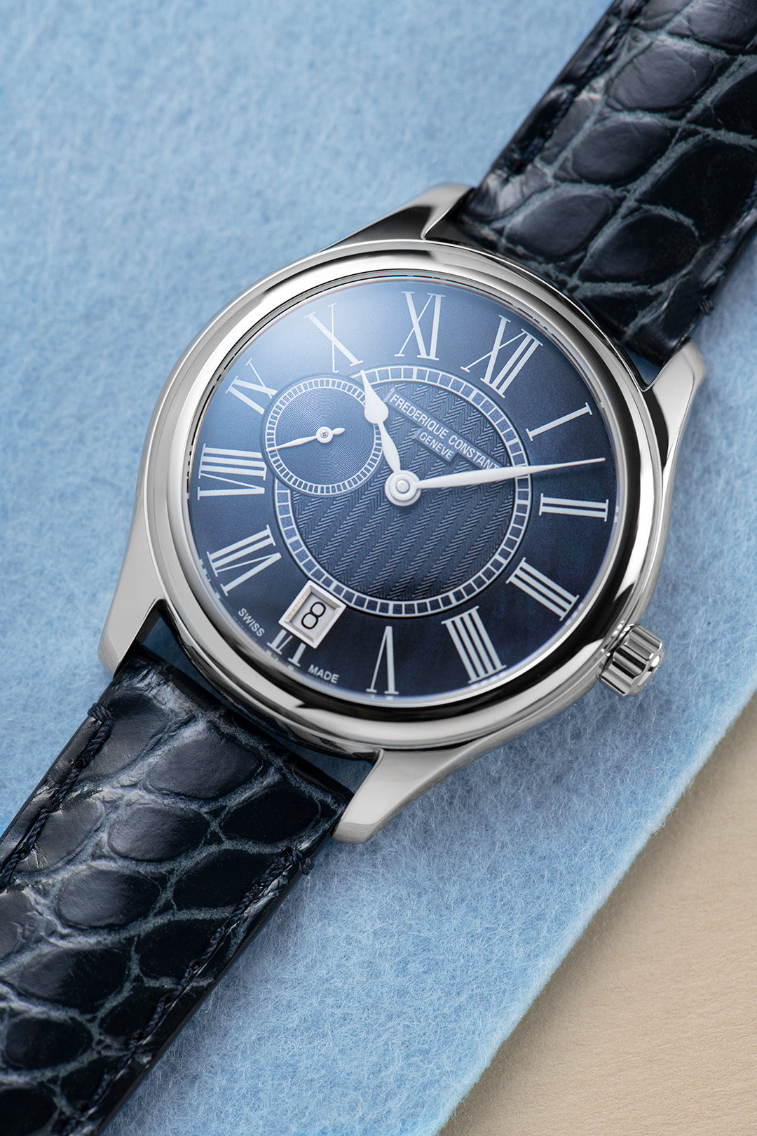 Frederique Constant Ladies Small Second Automatic (Blue Dial / 36mm)