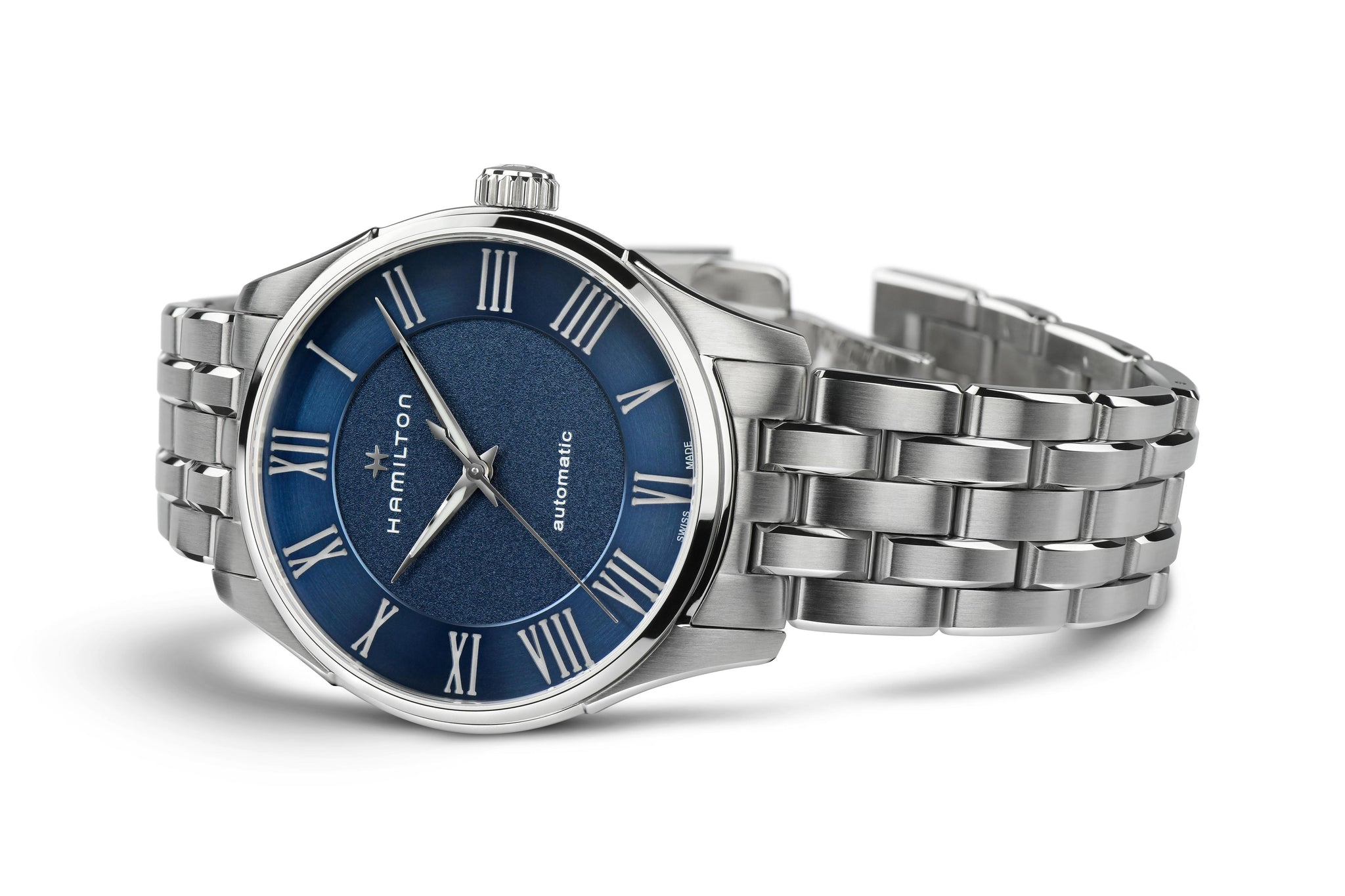 Hamilton Jazzmaster Automatic (Blue Dial / 40mm / Steel / Roman Numerals)