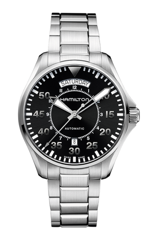 Hamilton Khaki Aviation Day Date Auto (Black Dial / 42mm / Steel)