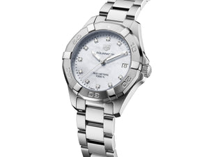 TAG Heuer Aquaracer Quartz (White Diamond Dial / 32mm)