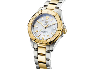 TAG Heuer Aquaracer Steel & Gold Quartz (White Dial / 32mm)
