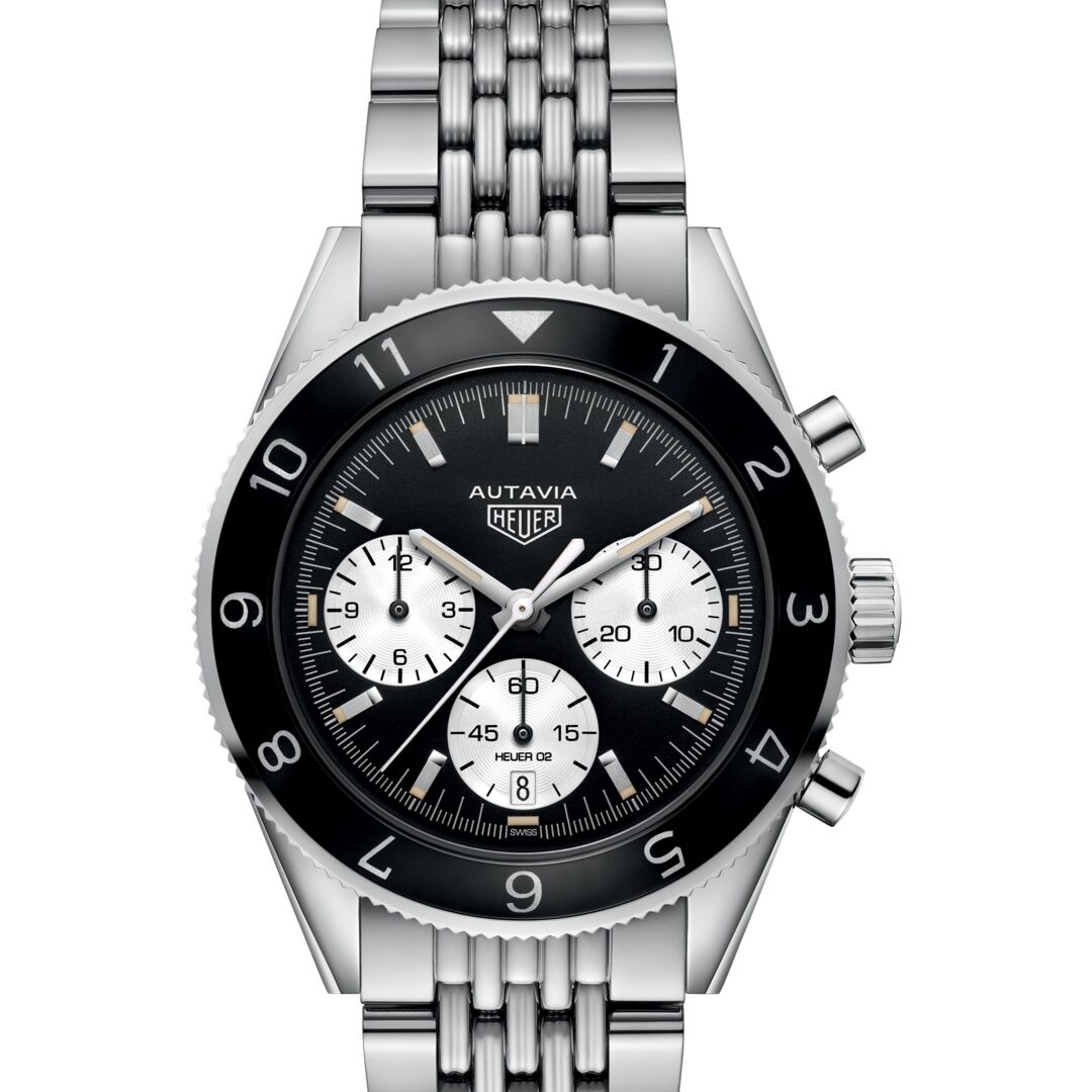 TAG Heuer Autavia Heuer 02 Automatic Chronograph (Black Dial / 42mm / Steel)