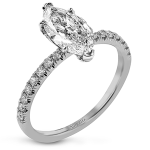 Simon G 18K Marquise Shape Diamond Solitaire Engagement Ring