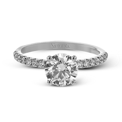 Simon G 18K 4-Prong Round Diamond Solitaire Engagement Ring