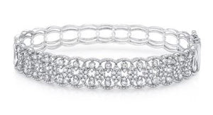 Uneek 14K Diamond Open Lace Anglais Medium Bangle Bracelet