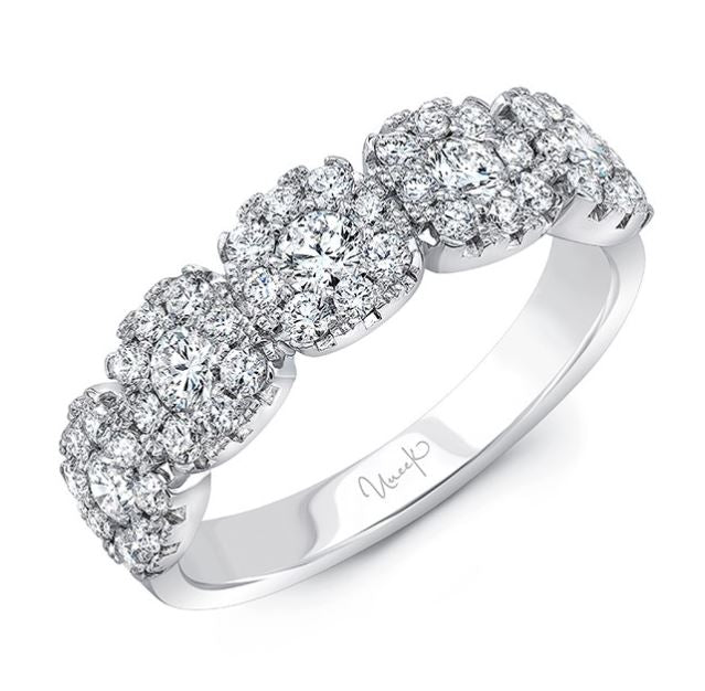 Uneek 18K Cushion Diamond Halo Ring