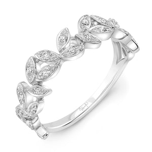 Uneek 14K Diamond Vine Stackable Ring