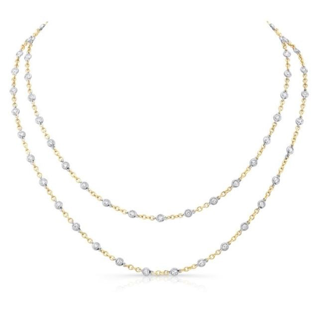 "Uneek 18K Diamonds-By-The-Yard 32"" Necklace"