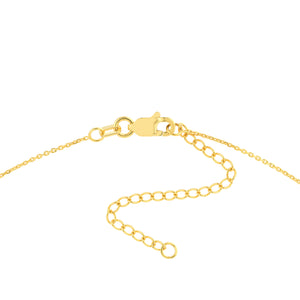 Hemsleys Collection 14K Heart-Shaped Disc Necklace