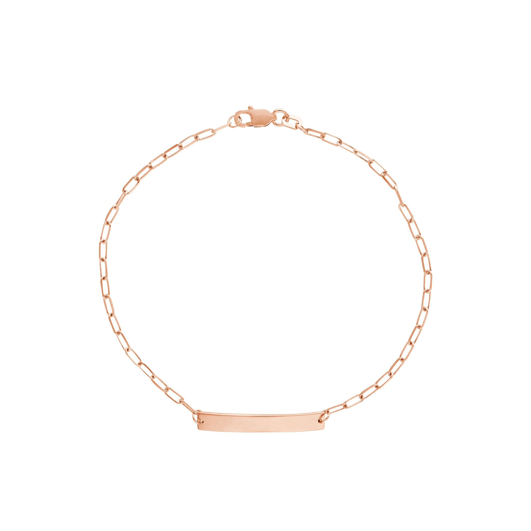 Hemsleys Baby Collection 14K Paperclip ID Bracelet