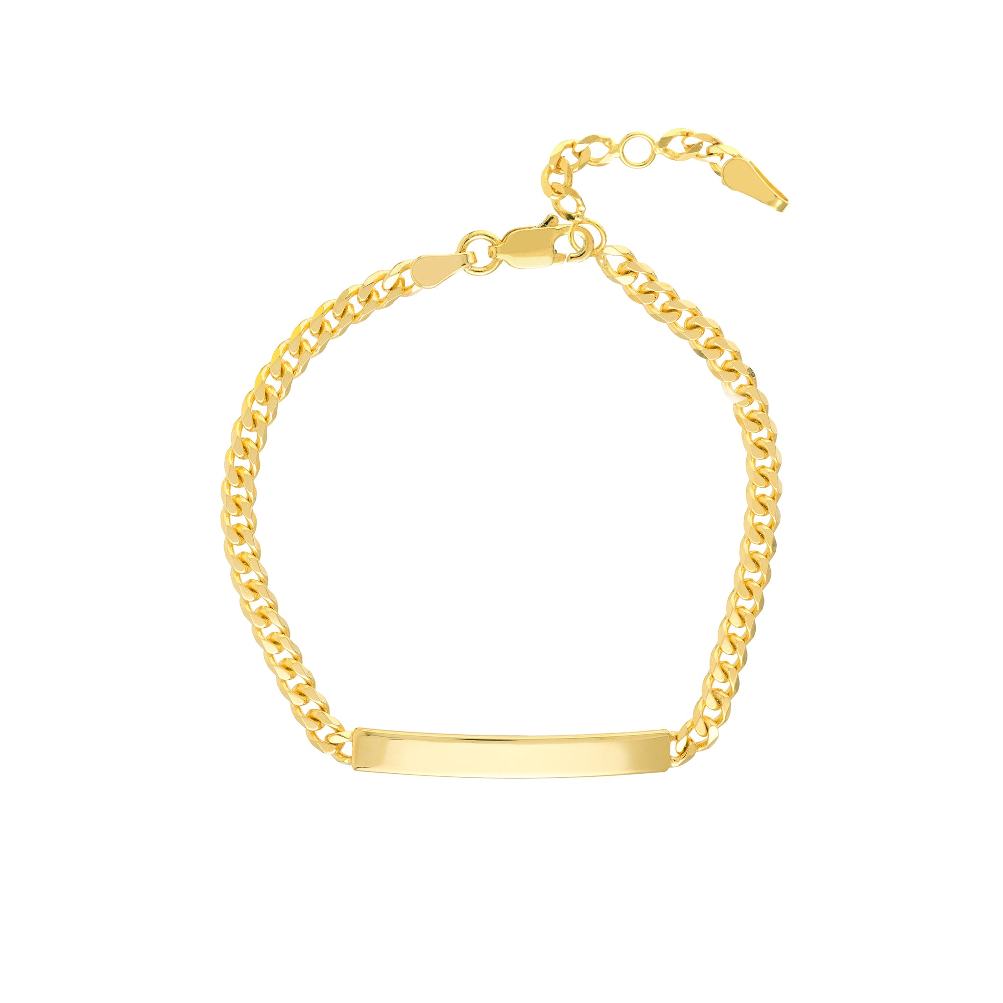 Hemsleys Collection 14K Yellow Gold Cuban Link ID Bracelet