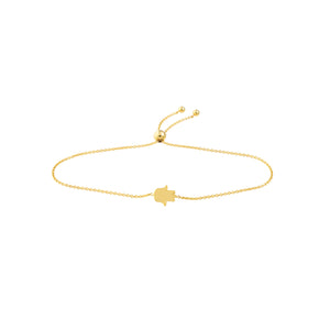 Hemsleys Collection 14K Yellow Gold Hamsa Bolo Bracelet