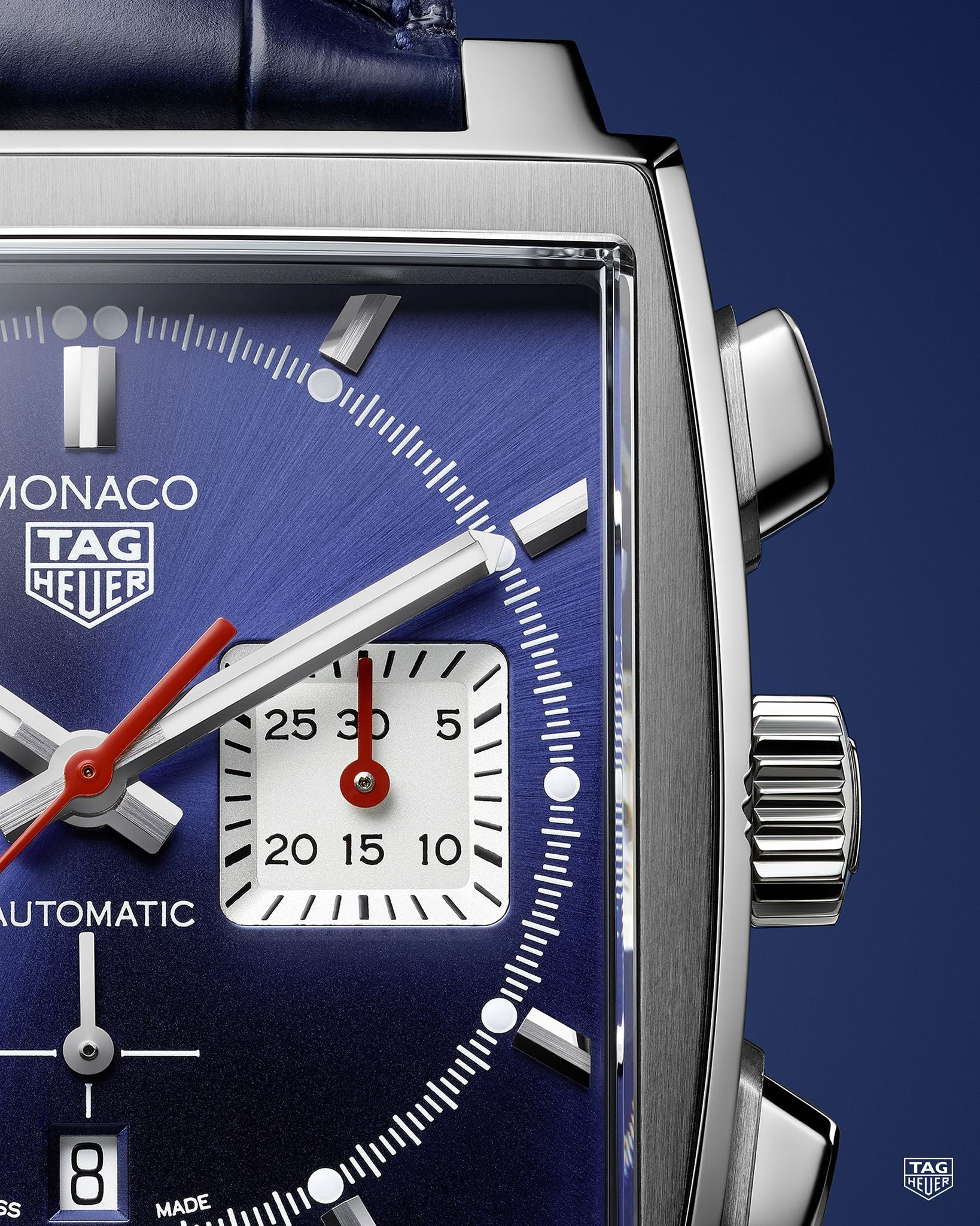 TAG Heuer Monaco Heuer 02 Automatic Chronograph (Blue Dial / 39mm)