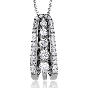 Simon G 18K Diamond Gradual Toggle Pendant