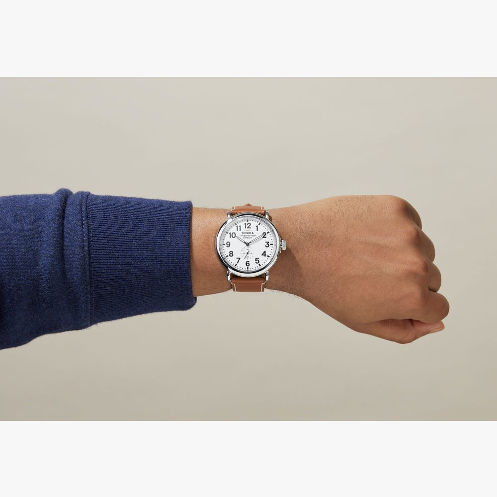 Shinola The Runwell Quartz (White Dial / 47mm)