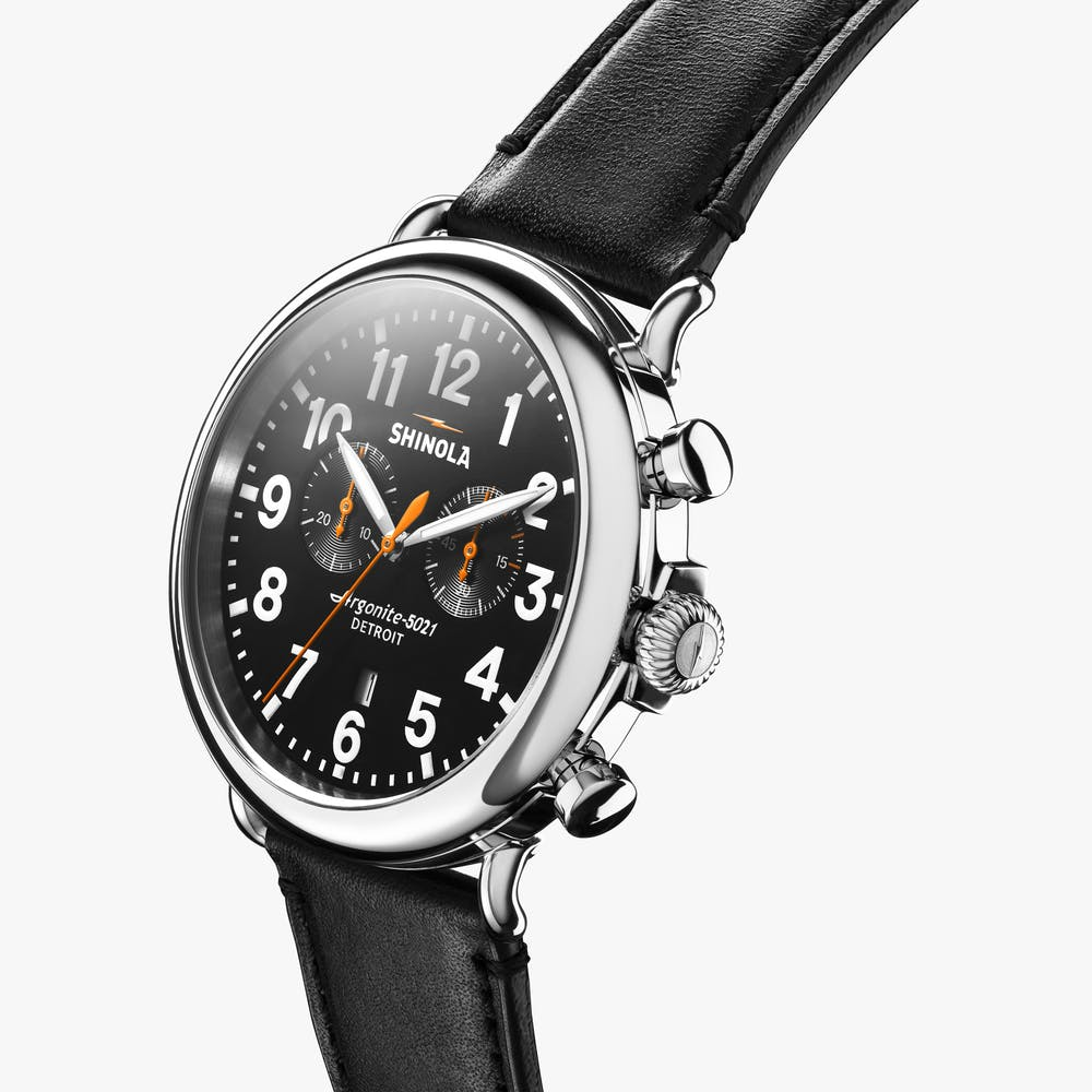 Shinola The Runwell Chronograph Quartz (Black Dial / 47mm)