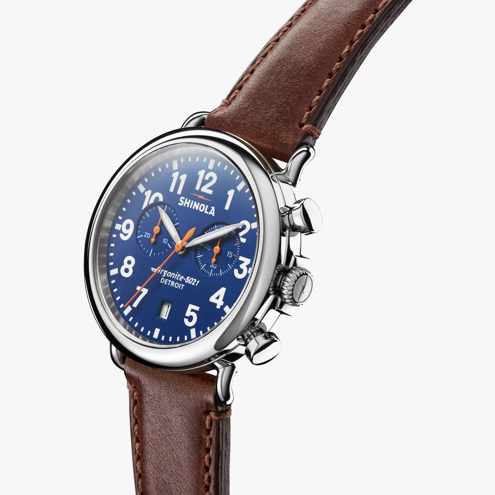 Shinola The Runwell Chronograph Quartz (Blue Dial / 41mm)