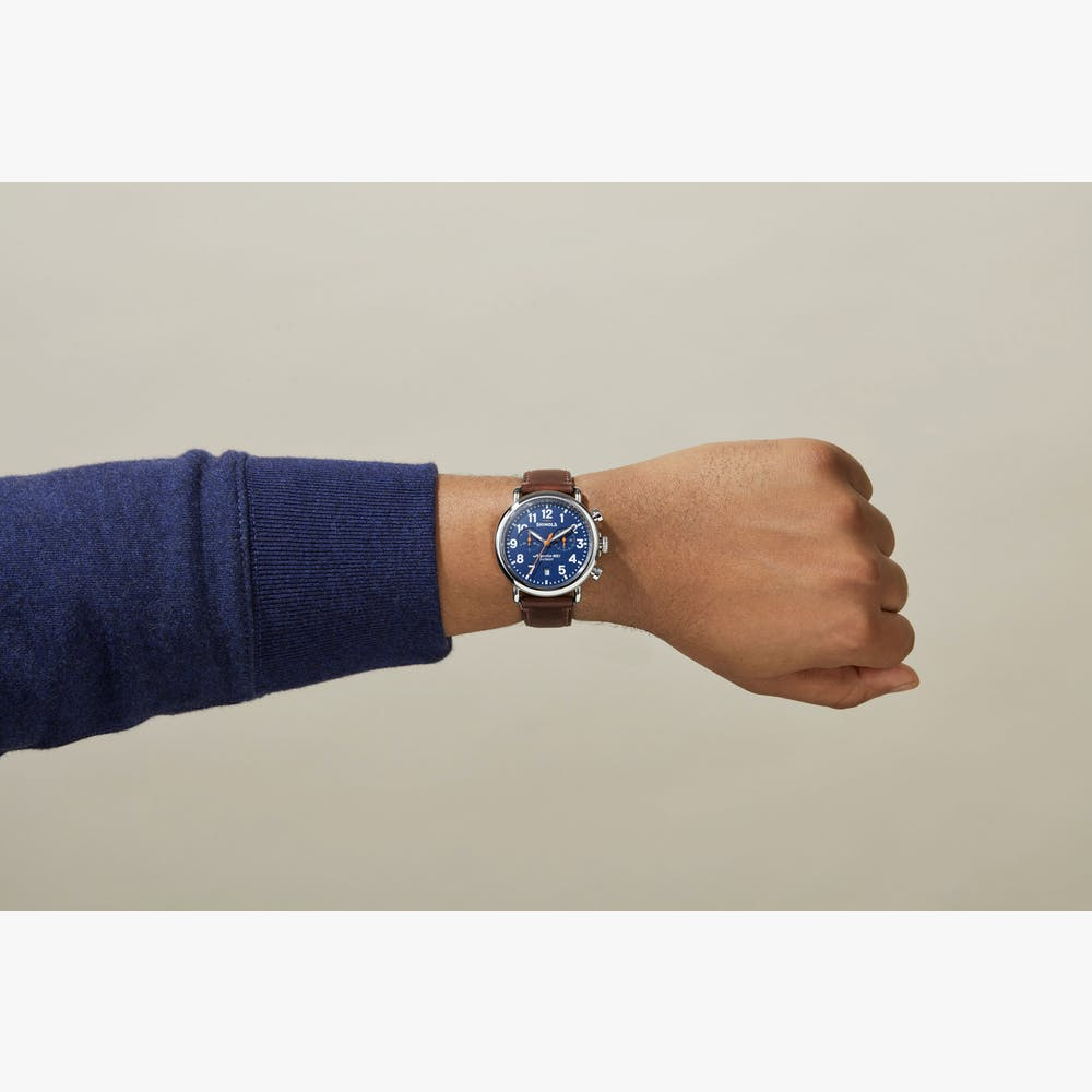 Shinola The Runwell Chronograph Quartz (Blue Dial / 47mm)