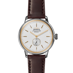 Shinola The Bedrock Quartz (White Dial / 42mm)