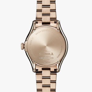 Shinola The Vinton Quartz (Blue Dial / 38mm/ Rose Gold)