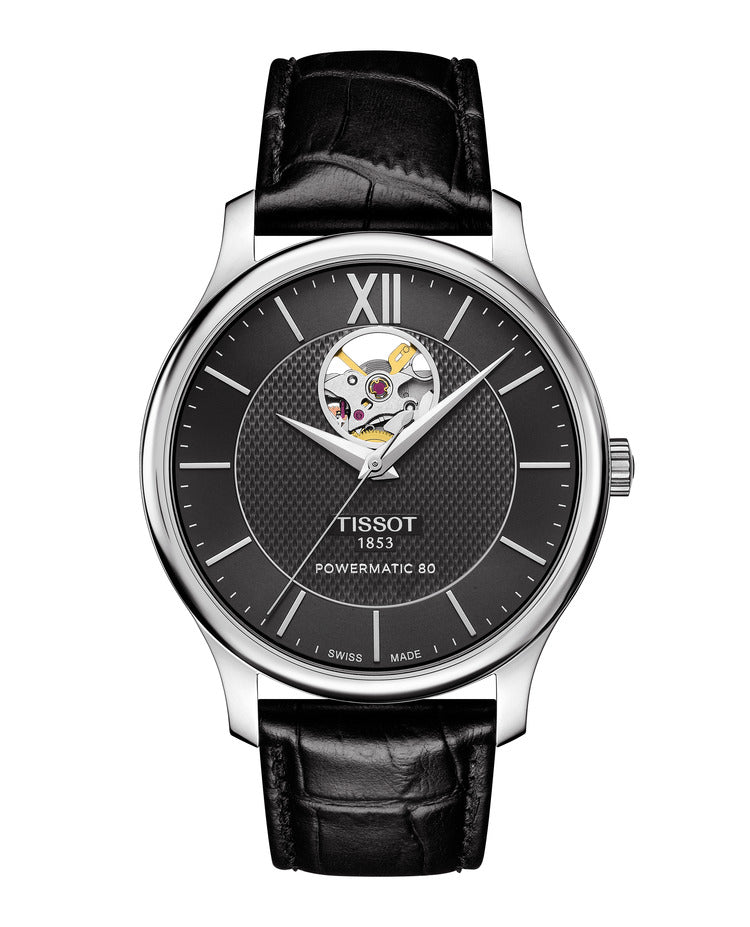 Tissot Tradition Powermatic 80 Open Heart (Black Dial / 40mm)