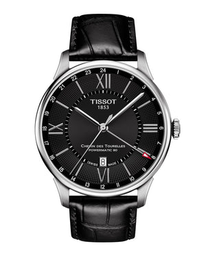 Tissot Chemin des Tourelles Powermatic 80 GMT (Black Dial / 42mm)