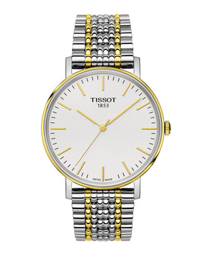 Tissot Everytime Medium Quartz (Silver Dial / 38mm / Two-Tone Yellow)
