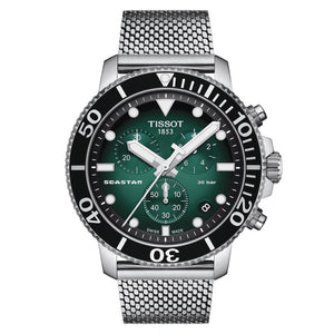 Tissot Seastar 1000 Chronograph Quartz (Green Dial / 45.5mm)