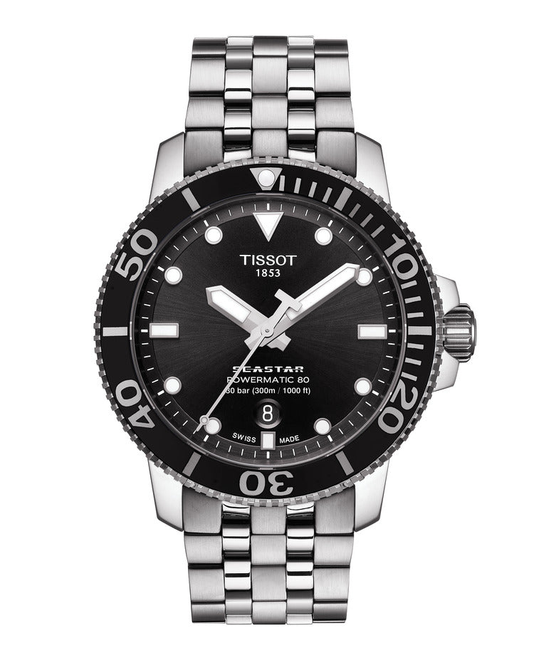 Tissot Seastar 1000 Powermatic 80 (Black Dial / 43mm)