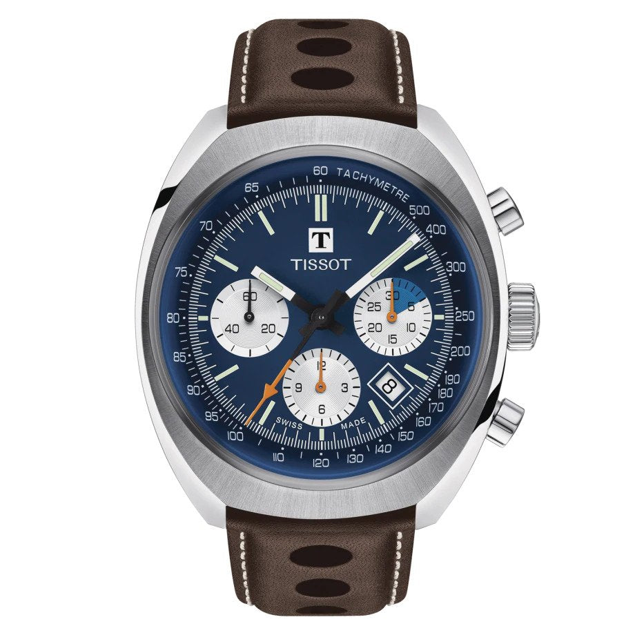 Tissot Heritage 1973 Automatic Chronograph (Blue Dial / 43mm)