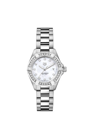 TAG Heuer Aquaracer Quartz (White Dial / 27mm / Diamond Bezel)