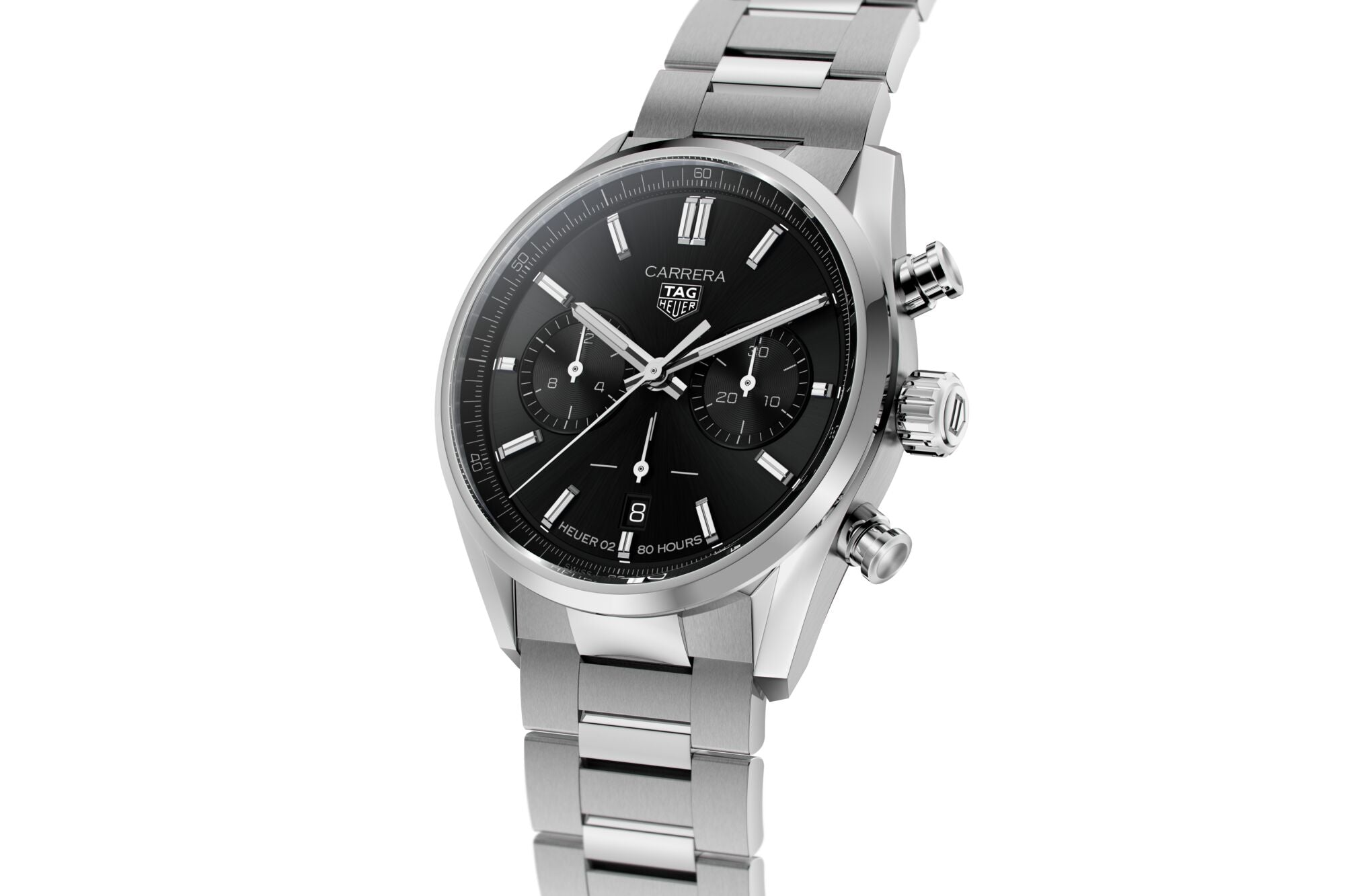 TAG Heuer Carrera Heuer 02 Automatic Chronograph (Black Dial / 42mm)