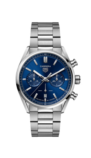 TAG Heuer Carrera Heuer 02 Automatic Chronograph (Blue Dial / 42mm)