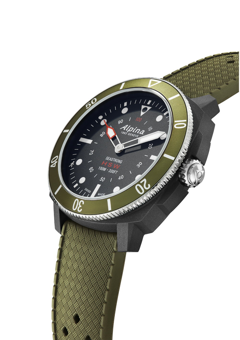 Alpina Seastrong Horological Smartwatch  (Green Dial / 44mm)