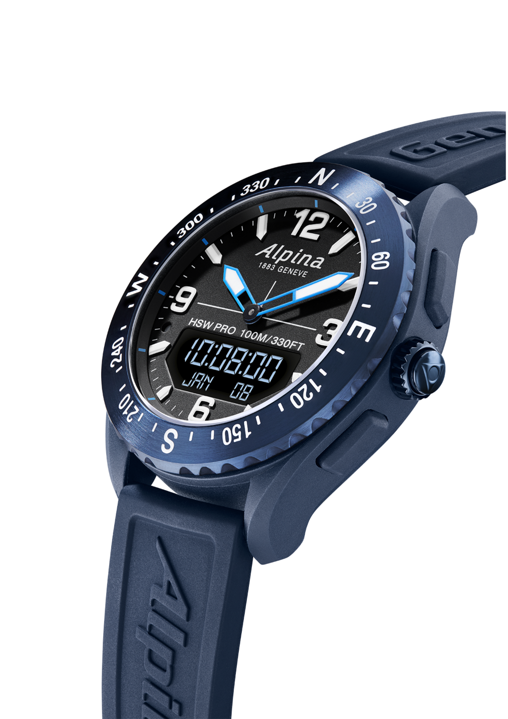 Alpina AlpinerX Smartwatch  (Blue Dial / 45mm)