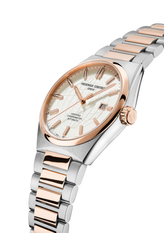 Frederique Constant Highlife Automatic COSC (Silver Dial / 41mm / Rose Gold Two-Tone)