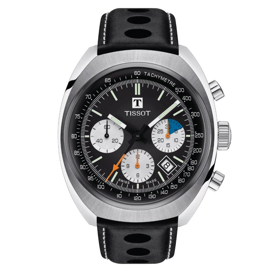 Tissot Heritage 1973 Automatic Chronograph (Black Dial / 43mm)