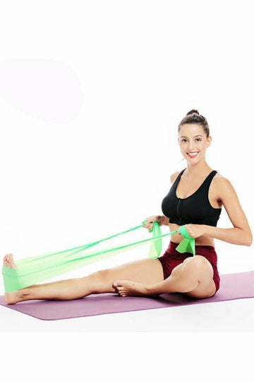 Sport Workout Body Stretch Resistance Band (Green,Blue,Yellow,Pink,Purple)
