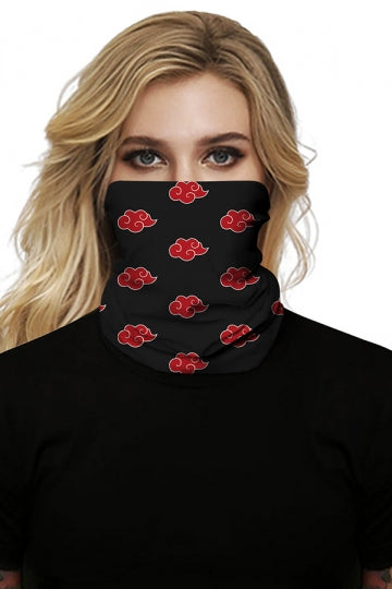 Outdoor Windproof Cloud Print Neck Gaiter Scarf Ruby
