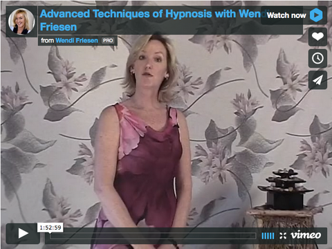 Advanced Hypnosis Techniques ON DEMAND video- by Wendi Friesen