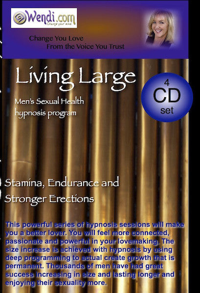 Living Large- Hypnosis for Men's Size and Power-CDset- by Wendi Friesen