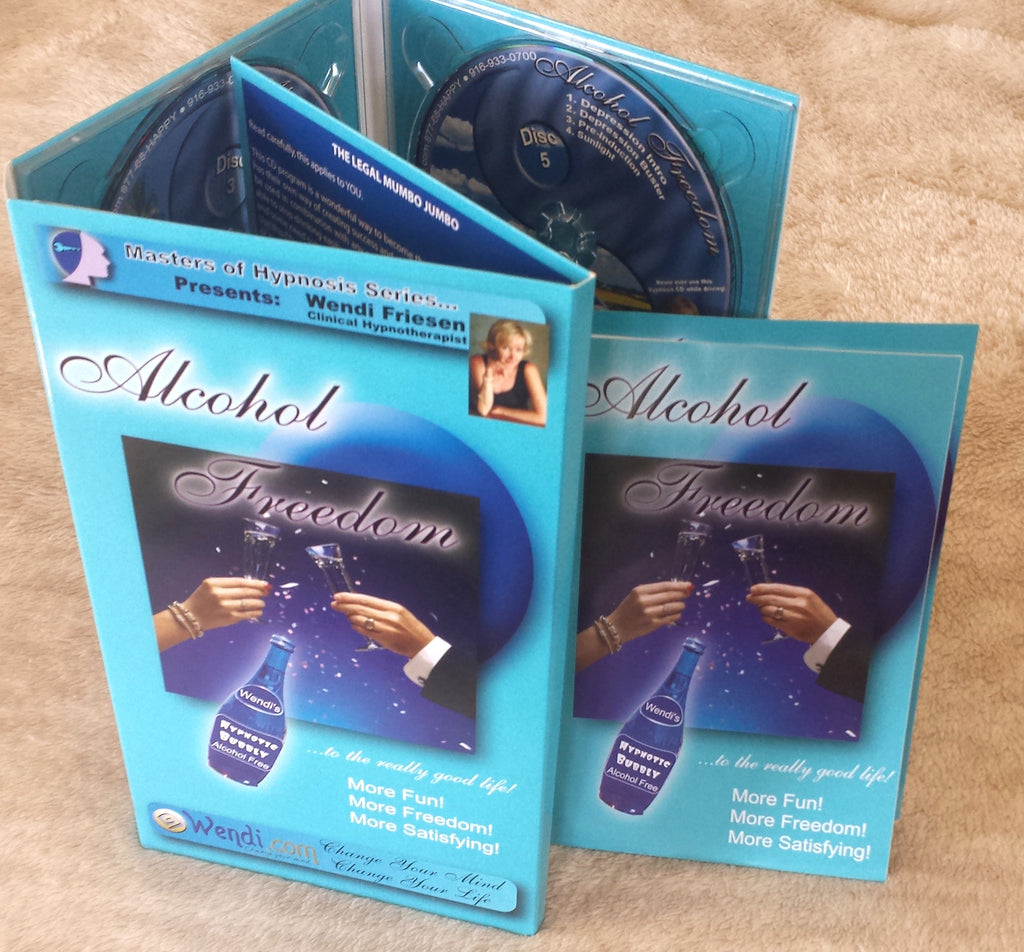 Alcohol Freedom Hypnosis CD set- by Wendi Friesen