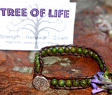 Bracelet- Tree of Life Jasper, hypnotic love