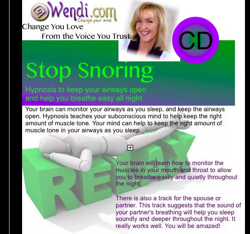 Stop Snoring- Hypnosis CDs