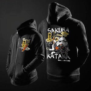 - Neko Sword Master  Hooded Jacket - KimuraFox