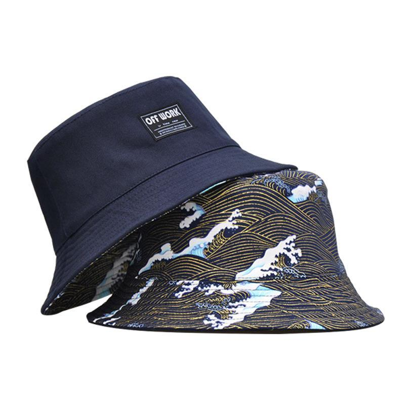 - Japanese Great Wave Pattern Bucket Hat - KimuraFox